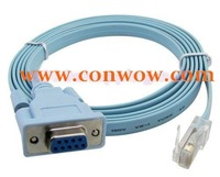 Wholesales,Free Shipping, 1.8M RJ45 to RS232  RS-232 DB9 9 pin Converter Cable