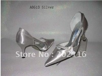 1 pair/lot silver New fashion Design Evening/Wedding/Dress Shoes A0513