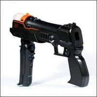 Free Shipping+wholesales+Precision Shot Pistol Gun for Playstation 3 PS3 Move, 2 hands pistol