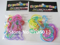 Free Shipping brand new silicone bracelet wristband funny glow rubber bands fashion style bracelet hair decorations 1728pcs/lot