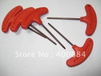 Torx key T type red color T15