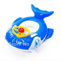 Baby water pool infant swim pool inflatable swimming pool long blue whale with steering wheel