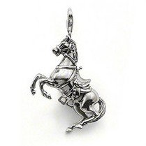 Free Shipping New style silver Horse charms pendant.fashion charms.Mix wholesale aceept!Min order:$15.(China (Mainland))