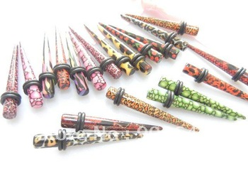 2011 New lot50pcs Free Shippment Body Jewelry -Acylic Ear Expander Plug