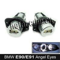 Xenon White LED Angel Eyes Marker Kits for BMW E90 E91 Hongkong Post Free Shipping