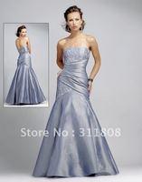 Beaded Taffeta Floor Length Prom Dress,Prom Gown+Free Shipping