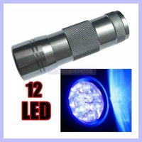Purple Light UV Torch 12 LED Flashlight