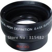 0.45x 37mm Wide Angle Macro Conversion LENS black for canon nikon sony