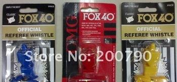 free shipping FOX 40 football Whistle soccer whistling Basketball Whistle Referee Soccer sports goods 50pcs/lot