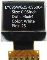 0.95 inch 96x64 screen led display lcd
