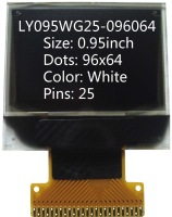 0.95 inch 96x64 screen led display lcd