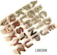 8mm Fashion Shiny Polished Metal Alphabet Beads,Can pick up Letters,fits 8mm Leather Band,Free Shipping Wholesale 260pcs/lot