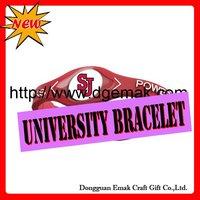 2011 Hot food grade University Bracelet,Original authentic,Factory Direct-ST.JOHN`S-RED STOR