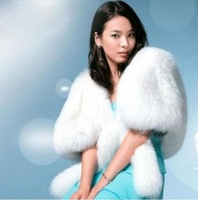 Wholesale New Ivory Faux Fur Stole Wrap Shrug Bolero Coat Bride shawl   Free Shipping   PETTICOAT