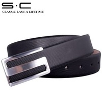 S.C Free Shipping wholesale+ Best Seller Brand new genuine Leather waist Belts for Men hot selling  drop shipping PY0046-3-HXY