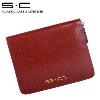 S.C Free Shipping  + Traveller Bi-fold Zipper Wallet LY0004-1