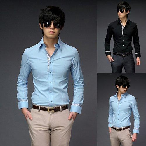 Mens Fashion Clothing Mens Luxury Shirts Fitted Mens ...