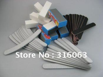 Free Shipping 40pcs/set  Sponge Nail Buffer Block Buffing Sanding  + Sponge Nail File Nail Art NA293