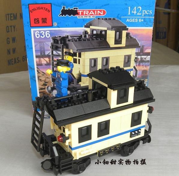 Enlighten train set No. 636 3D Jigsaw Puzzle, Lego-type Building Block Set, Brick Toy, Novelty ...
