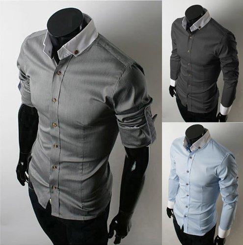 Mens-Casual-Slim-Fit-Dress-Shirts-Mens-Dress-Shirts-Men-Fashion-Shirts ...