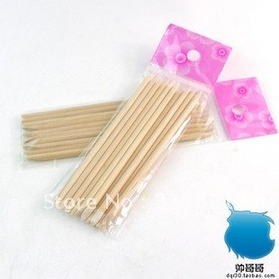 wholesale 100pcs/bag 11.5cm orange wood stick /nail art tool