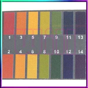 Free shipping 80 Full Range 1-14 pH Test Paper Strips Testing Litmus