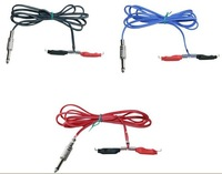 3 pcs new colorful  silicone tattoo clip cord for tattoo power ,tattoo supplies