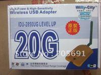 Wholesale 2011 New Arrival Wifly City 20G10pcs/lot 802.11b/g 54M Ultrastrong Wireless USB Adapter SMA Antenna