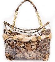 2013 hotsale!free shipping,Sexy Leopard Bag, Independant lining pvc, Classic shoulder bag,brand name handbag,fashion tote