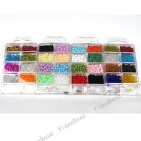 $5 off per $100 order, Wholesale - 5pcs Boxes Mixed Jewellery Making Seed Beads Sets 110242