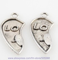 30*14mm free shipping 150pcs/lot wholesale fashion LOVE  charms,alloy LO charms,silver findings pendant