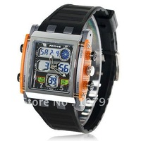 Free shipping fashion Waterproof  Diver Sport watch, Exquisite Anike time dual-mode,dual movement, Backlight Watch(orange)