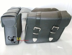 Saddle bag Leather Motorcycle saddlebags luggage NEW(China (Mainland))