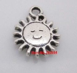 Wholesale 400Pcs Tibet silver Sun face charms diy ,metal dog charms 15*12mm(China (Mainland))