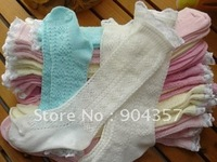 Girls Children Socks Cotton In tube socks with Lace Breathable Comfort 1-7 years old 20 pcs/lot
