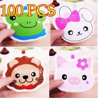 100pcs/lot CUTE South Korea creative multi-Styles pocket wallet Coin purses bags cartoon animals