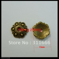 250 pcs/lot 13mm alloy bead caps jewelry findings Free shipping