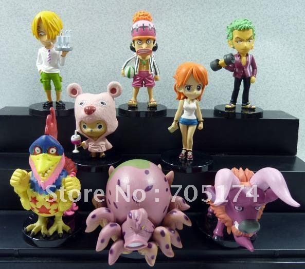 Anime One piece PVC Figure 6Generation 8 style Figure Q versions(China (Mainland))