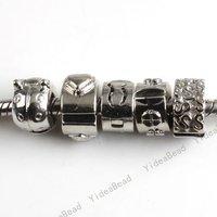 Wholesale - 15pcs Mixed Charms Snap Stopper Beads Fit Bracelet 150364