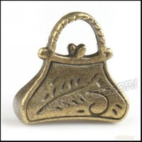 150pcs/lot Wholesale Fashion Charms Pendant Handbag Antique Bronze Plated Alloy Pendants Dangle Bead Fit Jewelry Making 140403