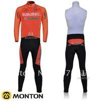 Free shipping! 2011 Euskaltel-Euskadi team Long Sleeve Cycling Jerseys and BIB Pants Set/Cycling Wear/Cycling Clothing