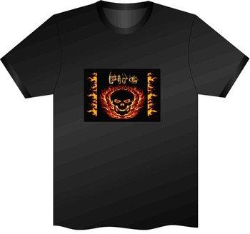 12pcs/lot free shipping Dance Sound Activated LED light up Rave Clothes LED EL Equalizer T-Shirt,LD002