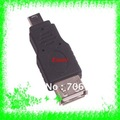 Free Shipping+100pcs/lot A-Female USB to Mini B 5pin Male Adapter Gender Changer for OTG