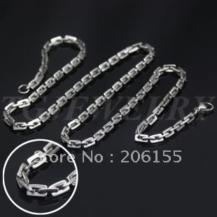 Free shipping stainless  steel link chain necklace-boston small,TG830