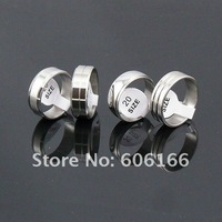 7.5mm Men's Simple Polishing Silve Tone Ring Stainless Steel Rings Fashion Jewelry 100pcs lots Mixed