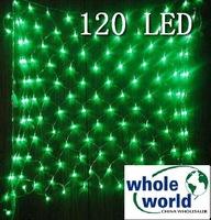 Green 120 LED NET lights for Party wedding garden,Christmas led light, 10pcs/lot ,free shipping