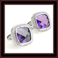 Intime fashion free shipping wholesalesell cheap high quality CZ stone cufflinks (5778)