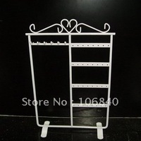 Free Shipping 3pcs Iron Earrings Frame 6 hook 32 Hole Stud earrings display shelf stand jewelry display