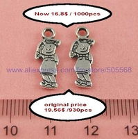 free shipping 1000pcs/lot cut price wholesale sales promotion fashion tibetanb silver charms enamel pendant jewelry findings