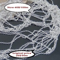 free shipping 100m/lot cut price sales promotion wholesale fashion jewelry chain silver chain iron chains